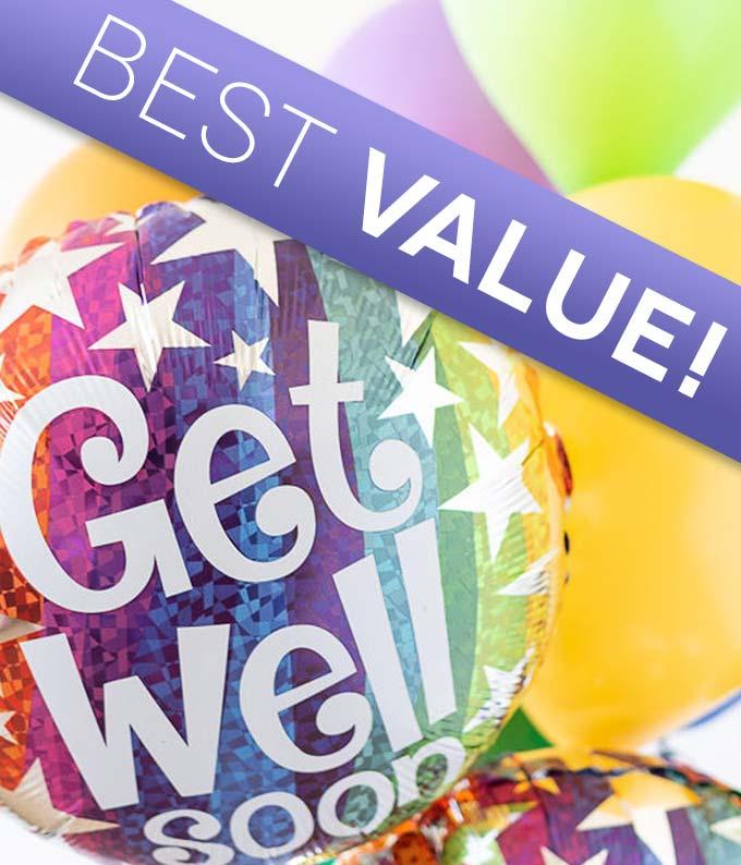 Get Well Florist Designed Balloon Bouquet