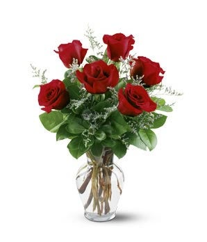 Flowers - 1/2 Dozen Red Roses - Regular