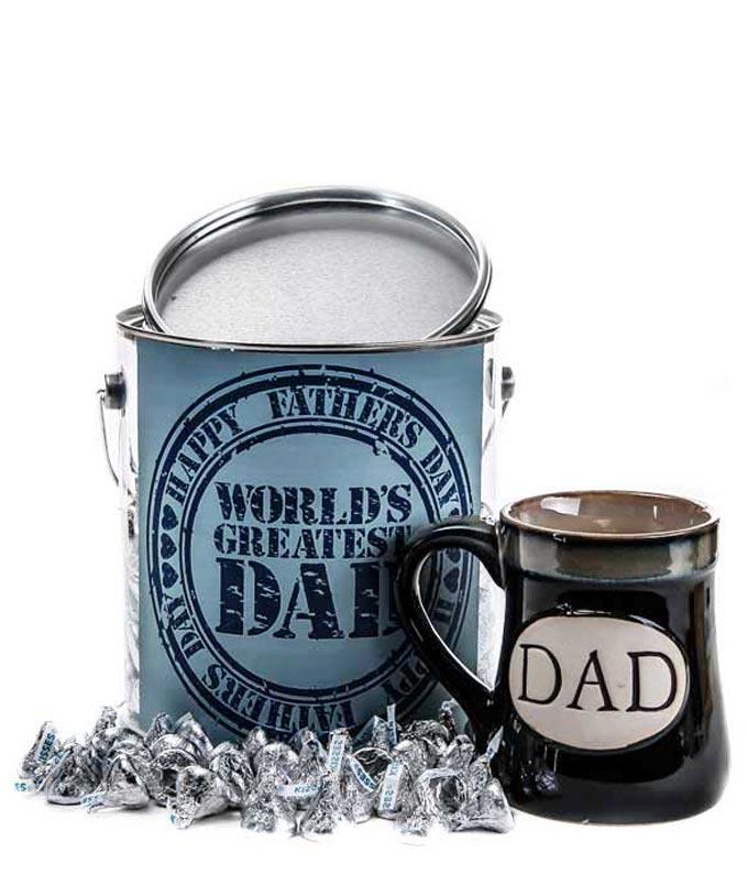 Worlds Greatest Dad with KISSES Mug - Regular