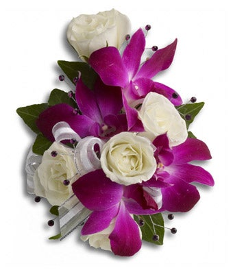 Fancy Orchids and Roses Wristlet Corsage