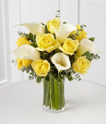 Sunshine Calla Lily Celebration Bouquet