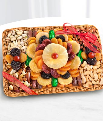 Fruit and Nut Dried Fruit Basket - Regular