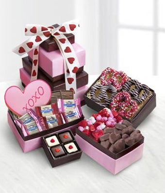 Valentine's Day Sweet Tower of Love Gourmet Gift