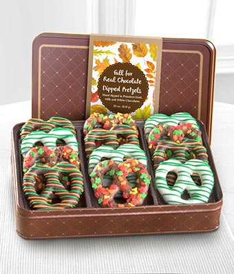 Chocolate Dip Delights� Fall For Real Chocolate Covered Pretzels