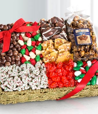Large Holiday Delights Chocolate & Sweets Gift Basket
