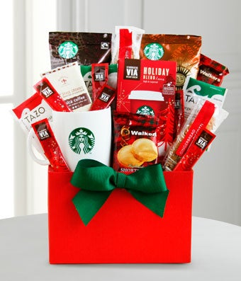Gift Baskets - Starbucks Holiday Gift Basket - Regular