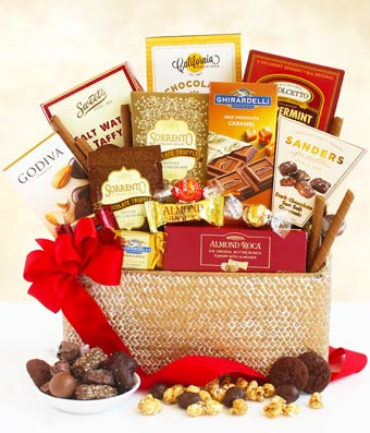 Ghirardelli� chocolate basket for Mother's Day