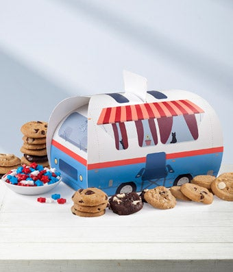 Mrs. Fields® Cookie & Candy Camper Gift Basket