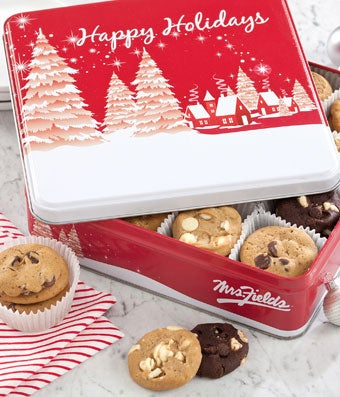 Mrs. Fields� Holiday Cookie Tin - 48 Nibblers�
