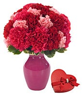 Sweet Carnations with Chocolates