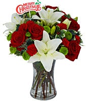 Holiday Flower Celebration with Holiday Pick