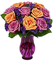 Purple & Orange Rose...