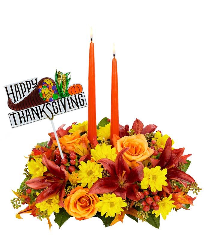 Happy Thanksgiving Wishes Centerpiece