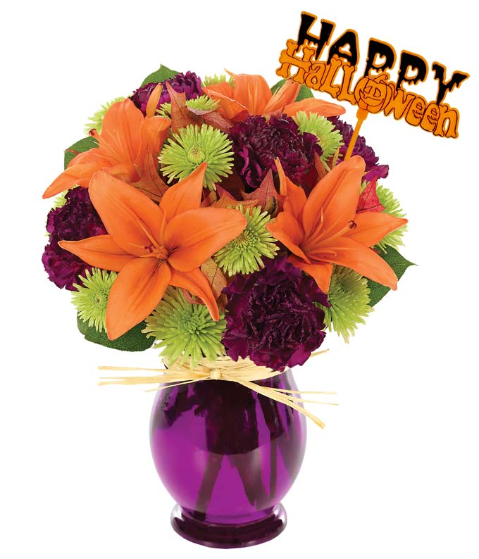 Fresh Trick & Treat Bouquet With Pick
