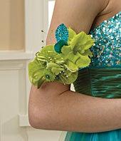 Green Envy Armband Corsage