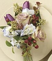 Lavender Rose, Tulip & Hydrangea Corsage