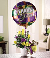 Thank You Flower & Balloon Bundle