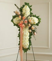 Peach, Orange & White Standing Cross