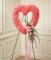1-800-Flowers� Pink Standing Open Heart