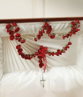 Large Rosary With Red Spray Roses