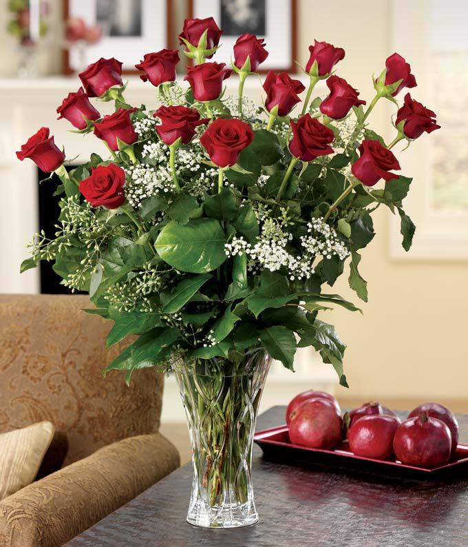 Elegant 18 Red Roses