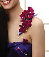 Purple Reigns Shoulder Corsage