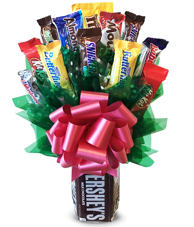 A Chocolate Candy Bouquet