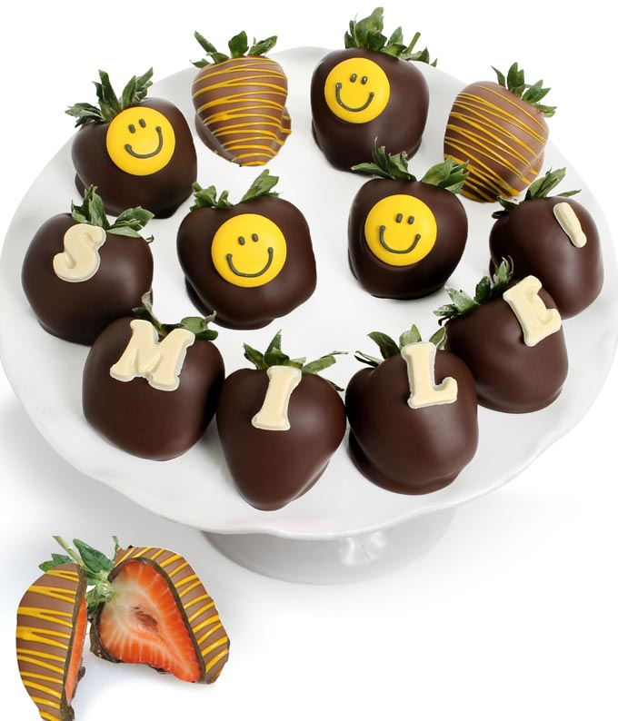 SMILE Chocolate Covered Strawberry BerryGram