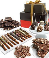 Deluxe Chocolate Covered Gift Basket Tower