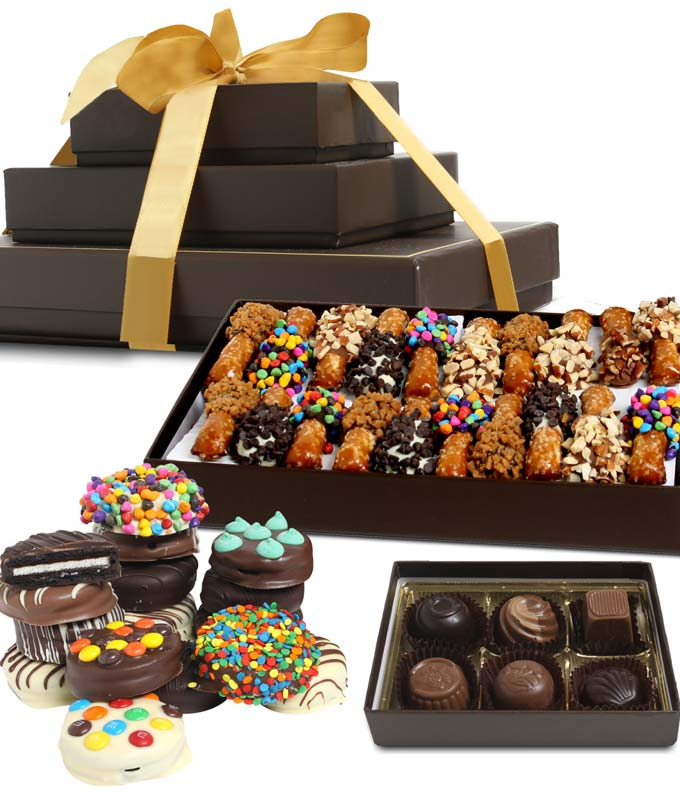 Celebration Dipped Favorites Gift Tower