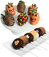 Halloween Chocolate Covered Strawberries & Oreos