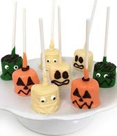 Halloween Chocolate Covered Marshmallow Pops