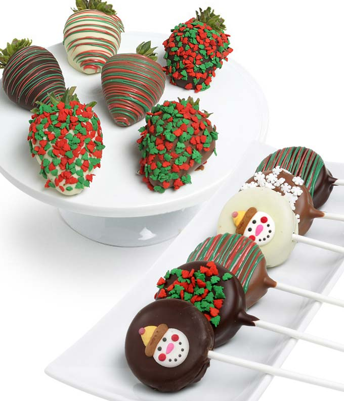 Christmas Chocolate Covered Strawberries & Oreo Cookies