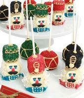 Chocolate Covered Nutcracker Cake Pops