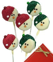 Snowman Chocolate Covered Oreo Pops