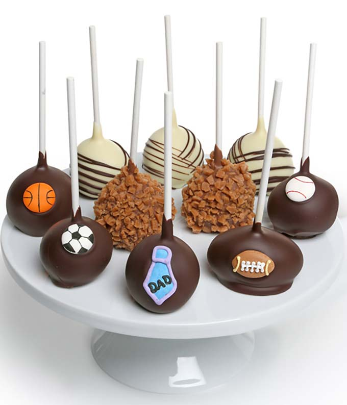 Father's Day Chocolate Dipped Cake Pops