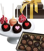Valentine's Day Chocolate Covered Cake Pops & Truffles