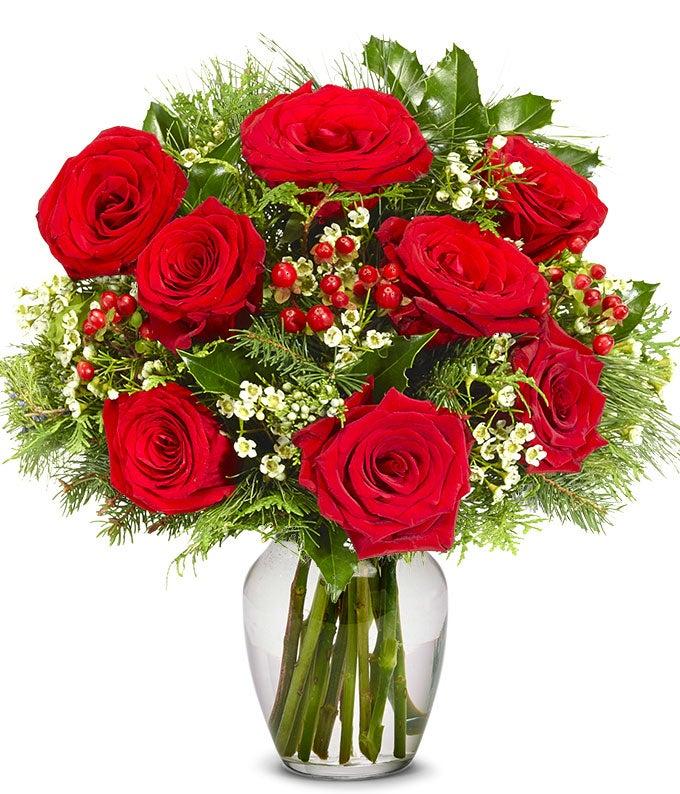 Red Rose Winter Elegance - Premium