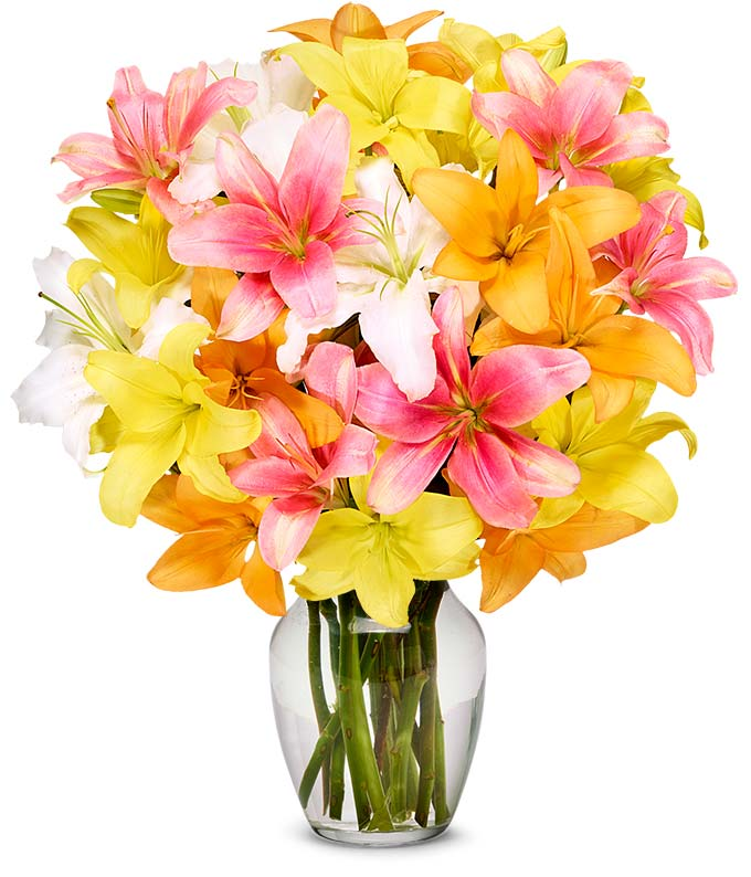 Fall Lily Bouquet - Premium