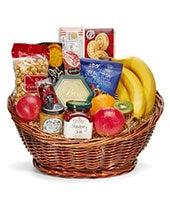 Deluxe Gourmet and Fruit Basket