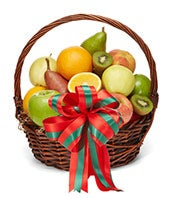 Merry Christmas Fruit Basket