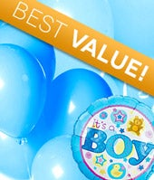 New Baby Boy Balloon Bouquet - Florist Designed