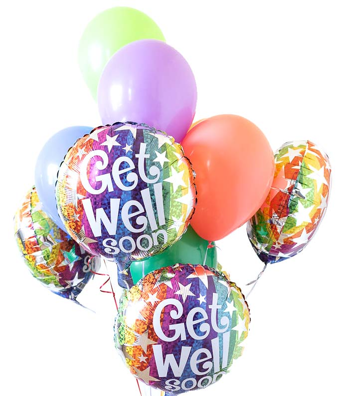 Get Well Balloons Bouquet