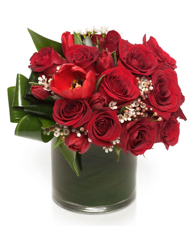 Red Roses & Tulips Luxury Bouquet