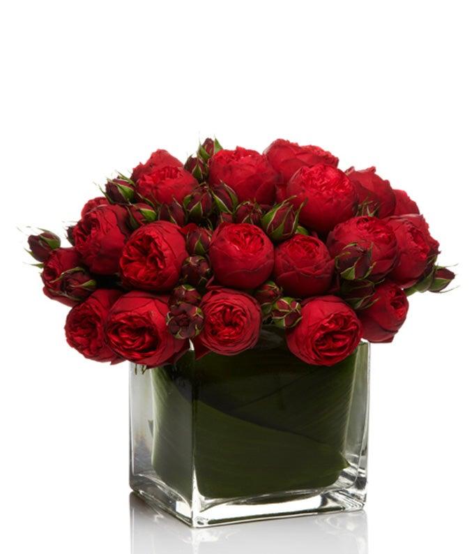 Modern Valentine's Red Rose Bouquet