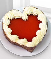 Heart shaped Valentine cheesecake for delivery