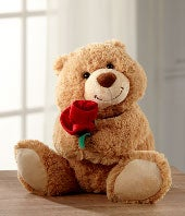 Sweet as a Rose Valentine's Day Plush Bear