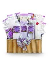 Fields of Lavender Spa Basket