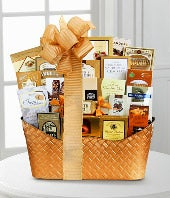 Golden Holiday Gourmet Gift Basket