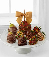 Fall Chocolate Covered Apple, Strawberries & Pear Basket